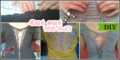 cut out tee shirt tutorial