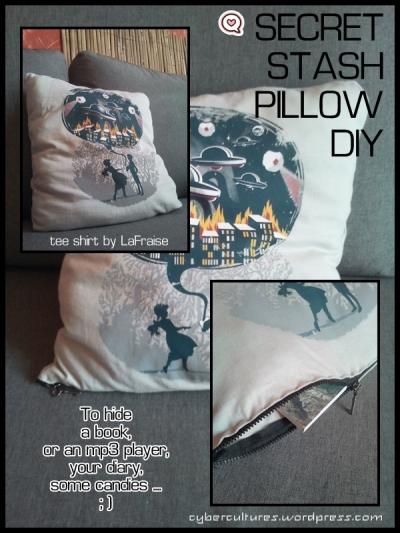 Secret Stash Pillow DIY - cybercultures.wordpress.com